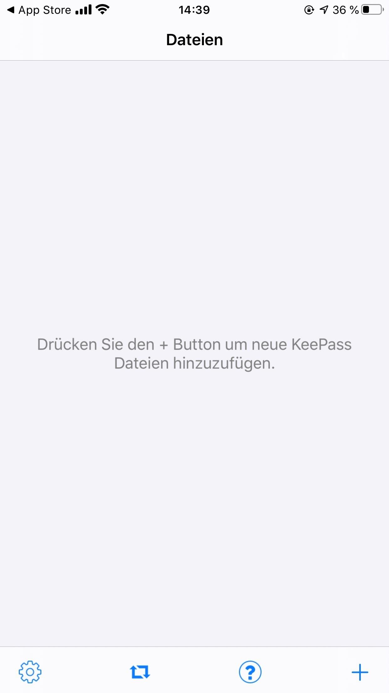 2. KeePass Touch oeffnen - IOS - Kostenlose Passwortverwaltung