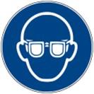 Warnschild-Augenschutz-benutzen