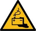 Warnschild-Gefahren-durch-das-Aufladen-von-Batterien-Arbeitsplätze-mit-Hochvoltsystemen