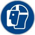 Warnschild-Gesichtsschutz-benutzen