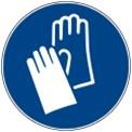 Warnschild-Handschutz-benutzen