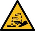 Warnschild-ätzende-Stoffe
