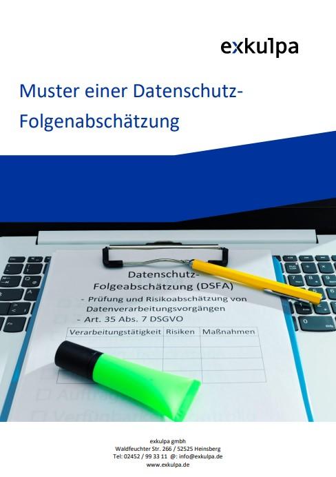 Muster-Datenschutz-Folgenabschätzung